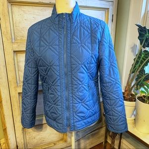 Talbots Light Blue Lightweight Puffer Coat